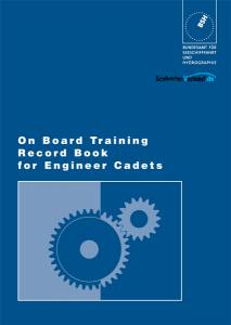 On Board Training Record Book for Engineer Cadets