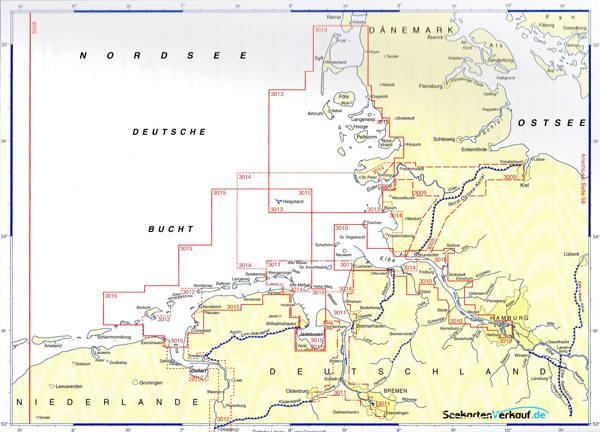 Deutsche Nordseeküste Karte.Bsh Planungskarte Für Die Sportschifffahrt Nordsee 3008 Ausverkauft
