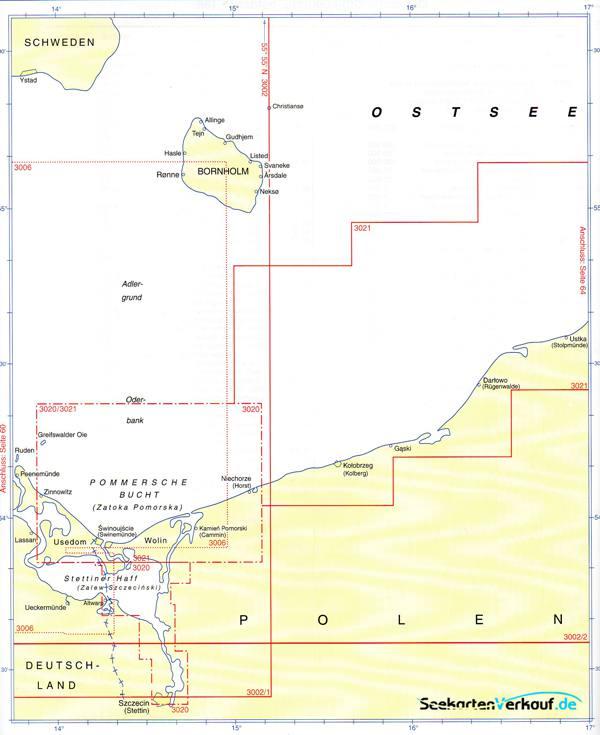 Karte Ostseeküste Deutsch.Bsh Planungskarte Für Die Sportschifffahrt Ostsee 3002