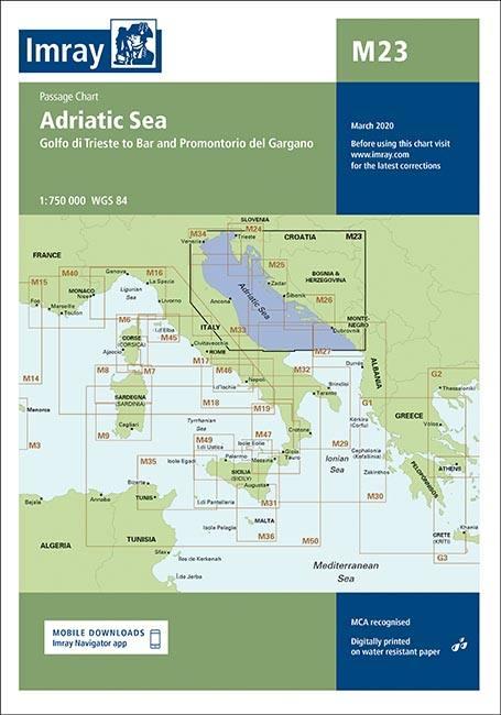 Imray Seekarten Imray Seekarten M23 Seekarten Mittelmeer