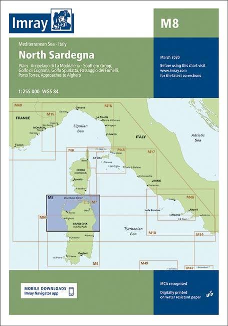 Imray Seekarten Imray Seekarten M8 Seekarten Mittelmeer